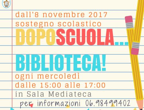 DOPOSCUOLA… BIBLIOTECA! 2017-2018