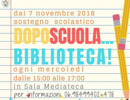 DOPOSCUOLA… BIBLIOTECA! 2018-2019