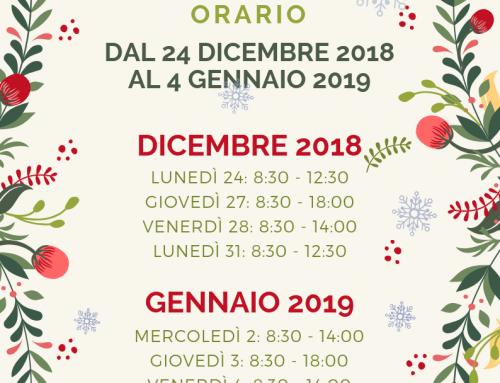 Orario Natale 2018