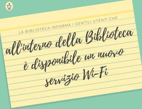 Avviso: nuovo servizio Wi-Fi