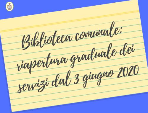 Avviso: riapertura graduale dei servizi dal 3 giugno 2020