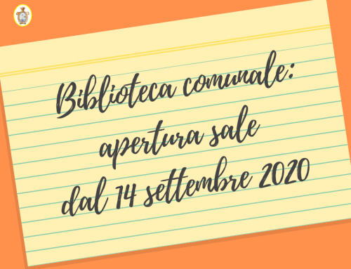 Avviso: apertura sale Biblioteca dal 14 settembre 2020